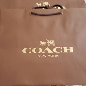 COACH authentic shopping bags. 16x13x6.5. New